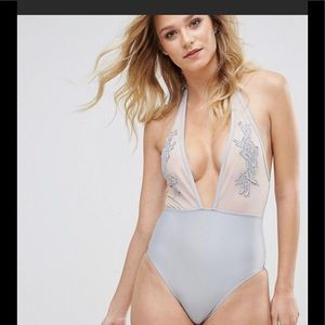 ASOS NWT PEEK AND BEAU GRAY ONE PIECE SWIMSUIT